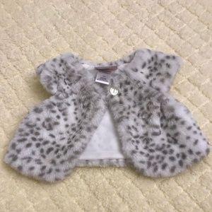 Little Lass Baby Faux Fur Vest Infant 3-6 month